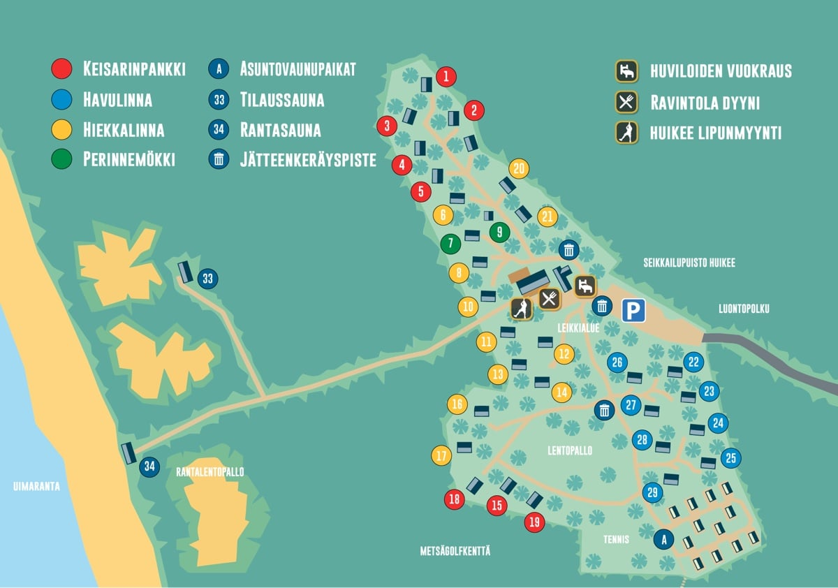 Yyteri Beach – Site Map